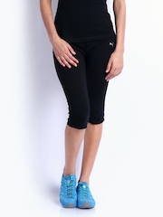Puma Women Black Studio Tight Fit Capris