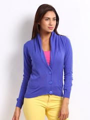 Puma Women Blue Drapey Cardigan