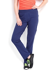 PUMA Women Blue ESS Jersey Track Pants
