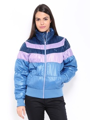 Puma Women Blue Padded Jacket