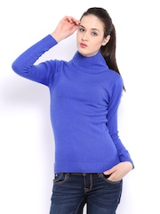 Puma Women Blue Sweater