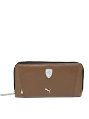 Puma Women Brown Ferrari LS Wallet