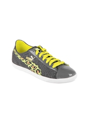 Puma Women Grey & Yellow Glyde TC Animal Casual Shoes