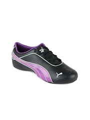 Puma Women Black & Purple Soleil FS Casual Shoes
