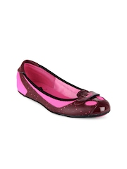 Puma Women Maroon & Pink Zandy Dots Flat Shoes