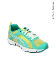 Puma Women Green & Yellow Formlite XT Ultra NM Training Shoes