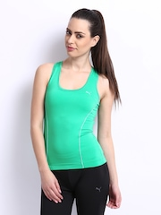 Puma Women Green Gym Racer Back Tank Top