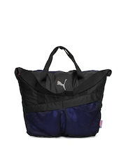 Puma Women Grey & Blue Over-Sized Tote Bag