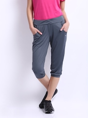 Puma Women Grey Gym Loose Cuffed Capris