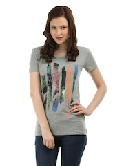 Puma Women Grey T-shirt