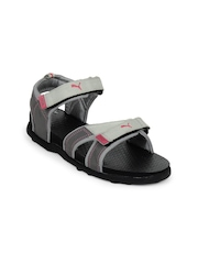 Puma Women Grey Techno II Sports Sandals