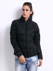 Puma Women Black Padded Jacket