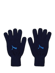 Puma Unisex Navy Fundamentals Knit Gloves