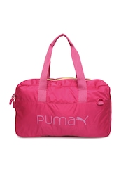 Puma Women Pink Core Grip Duffle Bag