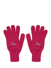 Puma Women Pink Fundamentals Knit Gloves