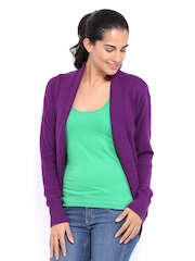 Puma Women Purple Cardigan