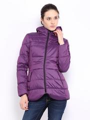 Puma Women Purple Padded Down Jacket