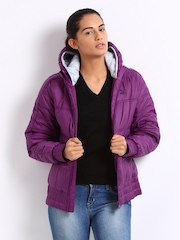 Puma Women Purple Padded Jacket