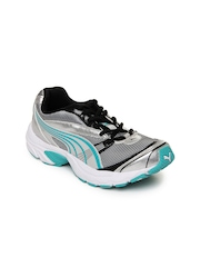 Puma Women Silver Toned & Grey Velocity Sports Shoes