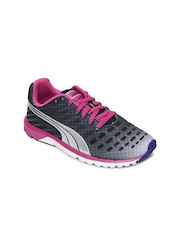 Puma Women Charcoal Grey Faas 300 V3 Sports Shoes