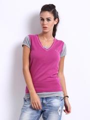Puma Women Pink Sleeveless Sweater