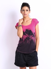 Puma Women Pink Printed T-shirt