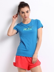 Puma Women Blue T-shirt