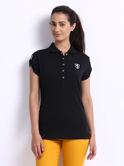 Puma Women Black Ferrari Polo T-shirt