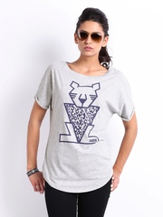 Puma Women Grey Printed T-shirt