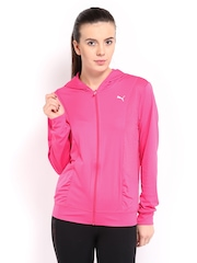 Puma Women Pink Gym Loose Cover Up Hooded Jacket