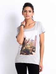 Puma Women Grey Collab Printed T-shirt