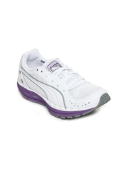 Puma Women White BodyTrain Mesh Grid Sports Shoes