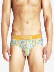 Punch Men Multi-Coloured Printed Briefs