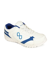 Men White & Blue Casual Shoes Pure Play