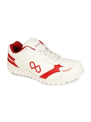 Men White & Red Casual Shoes Pure Play
