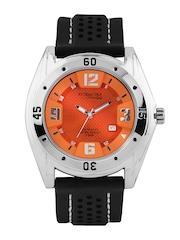 Q&Q Attractive Men Orange Dial Watch