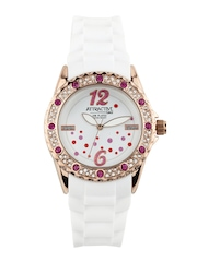 Q&Q Attractive Women White Dial Watch