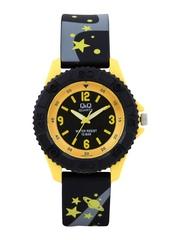 Q&Q Kids Black & Gold Toned Dial Watch
