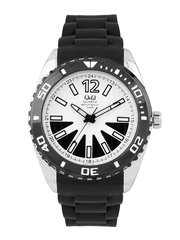 Q&Q Men Black & White Dial Watch