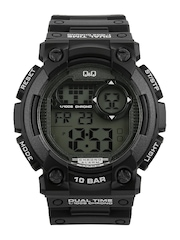 Q&Q Men Black Digital Watch