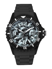 Q&Q Men Grey Camouflage Print Dial Watch