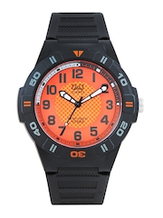 Q&Q Men Orange Dial Watch