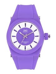 Q&Q Men Purple Dial Watch VR32J005Y
