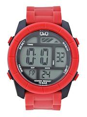 Q&Q Men Red Digital Watch