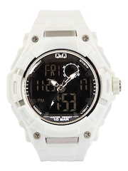 Q&Q Men White Analogue & Digital Watch