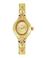 Q&Q Women Gold Toned Dial Watch