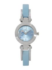 Q&Q Women Metallic Blue Dial Watch