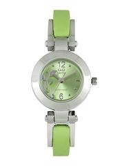 Q&Q Women Metallic Green Dial Watch