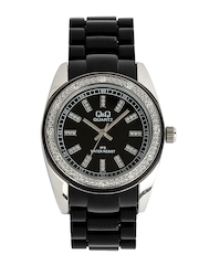 Q&Q Women Black Dial Watch