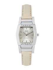 Q&Q Women Metallic Beige Dial Watch